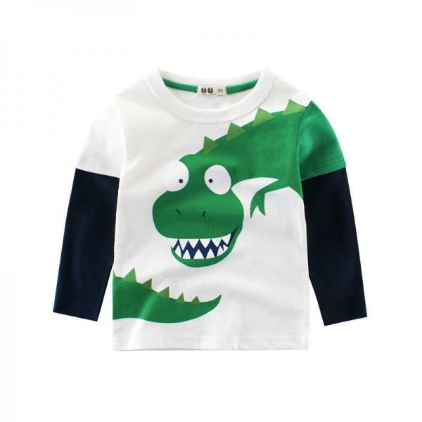 Cool Dinosaur Print Long-sleeve T-shirt for Toddler Boy/Boy
