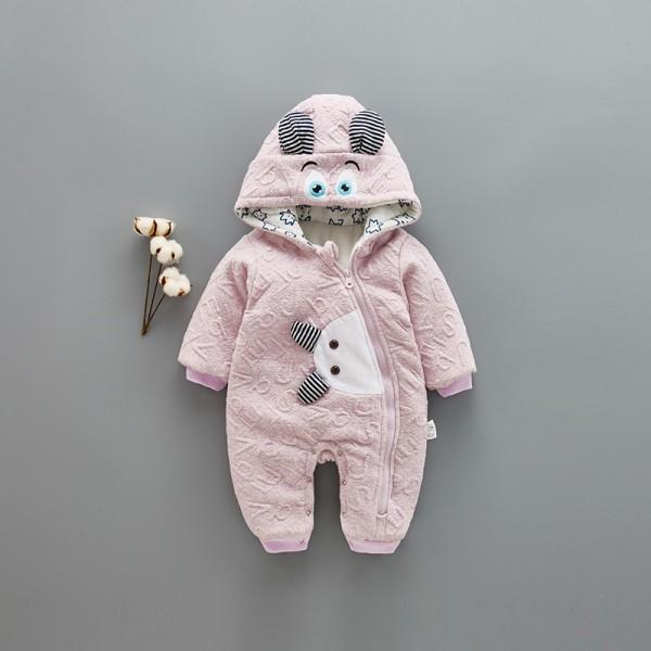 Cool Animal Design Hooded Jumpsuit for Babies