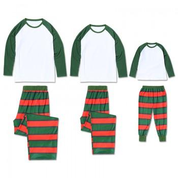Classic Family Matching Contrast T-shirt and Plaid Pants Set