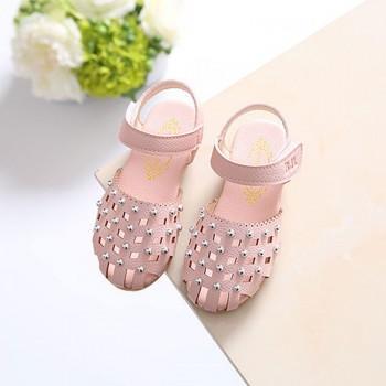 Girl's Sweet Bead Studded Sandals