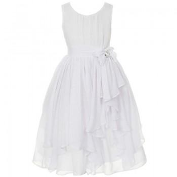 Brilliant Sleveless Dress with Ruffle Skirt for Baby Girls