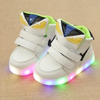 Cool LED Velcro Hi-top Shoes for Toddler and Kid