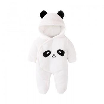 Adorable Panda Long Sleeves Hooded Jumpsuit for Baby Unisex