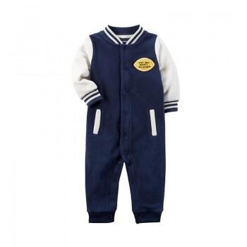 Fashion Baseball Long-sleeve Jumpsuit for Little Boy