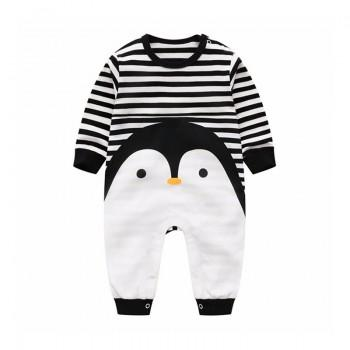 Baby Penguin Baby Jumpsuit in Black Unisex