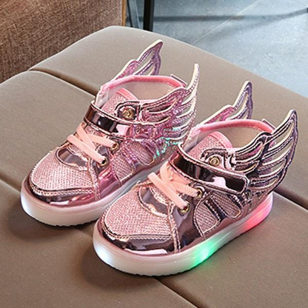 Shiny LED Wing Design Shoes for Toddler and Kid