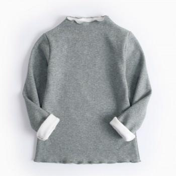 Sweet Soft Lining Solid Sweatshirt for Toddler Girl/Girl