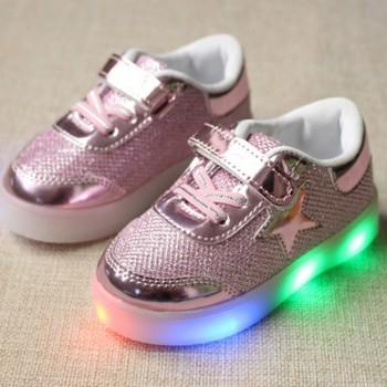 Glitter LED Sneakers for Kids