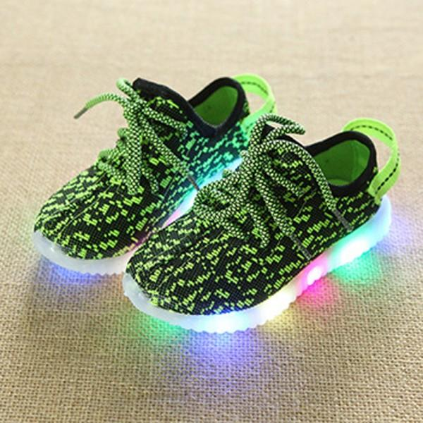 Comfy Lace-up LED Sneaker for Kids