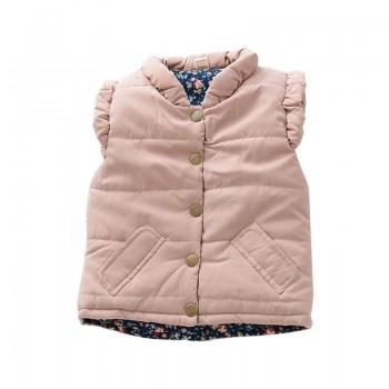 Fashionable Pocket Vest in Pink for Toddler Girl/Girl