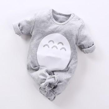 Totoro Long Sleeve Jumpsuit in Grey for Baby